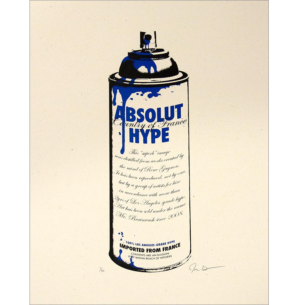John Grayson(ジョン・グレイソン) Absolut Hype シルクスクリーンポスター