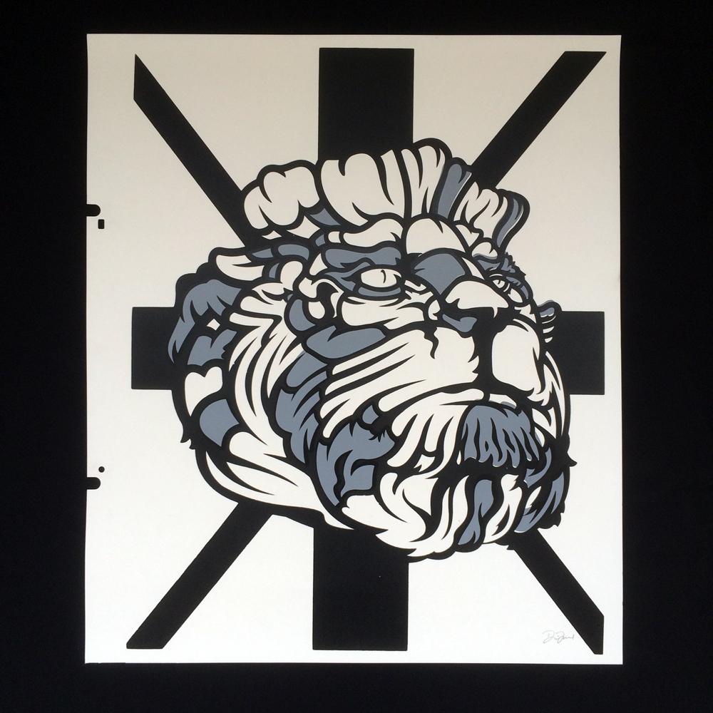 David Flores(デイビッド・フローレス) LION シルクスクリーンポスター