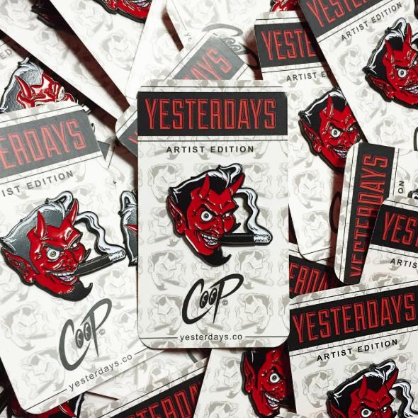 COOP x Yesterdays Co:Smoking Devil ピンズ