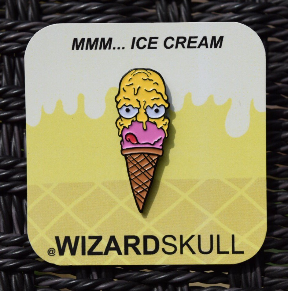 Wizard Skull:MMM... Ice Cream pin