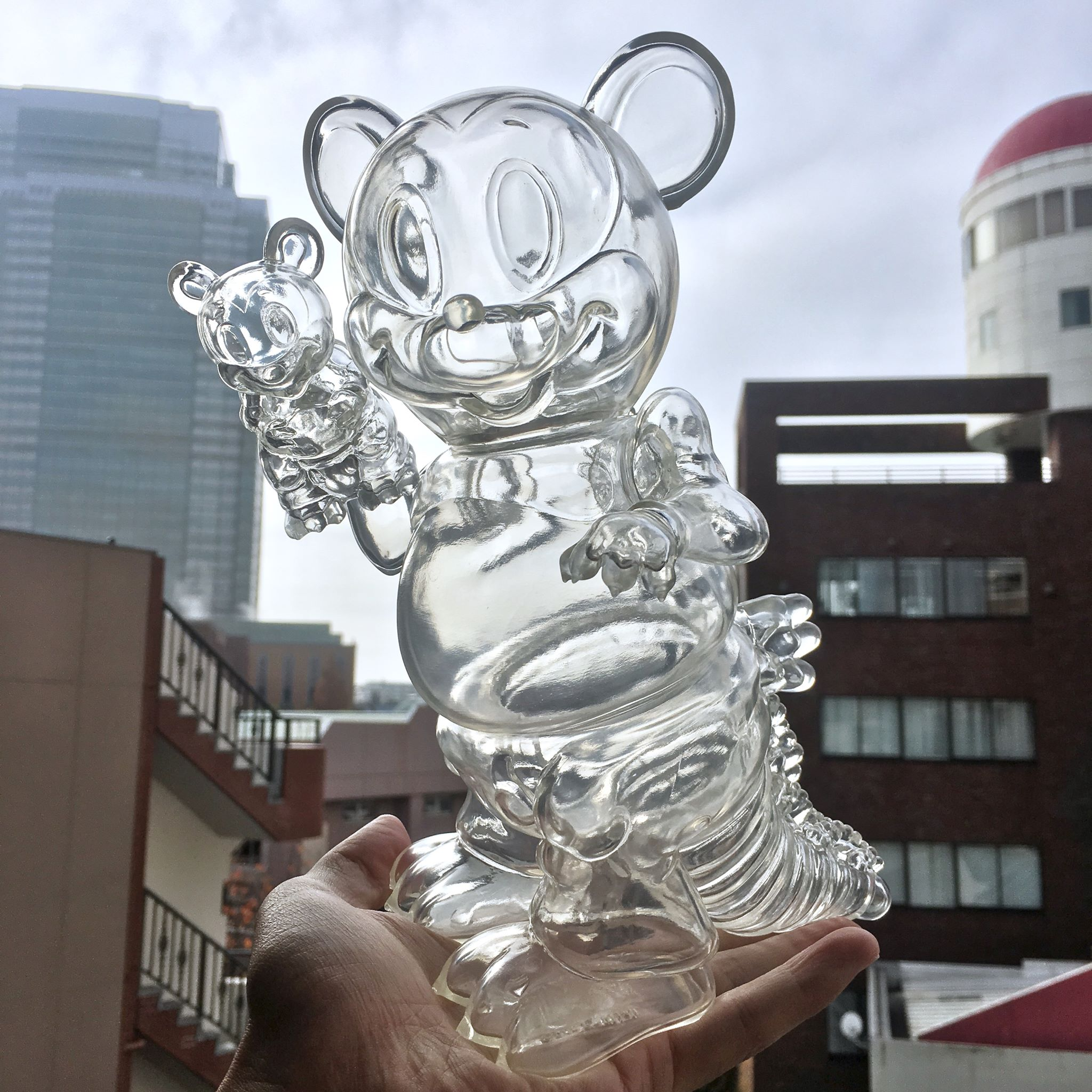 Ron English x BlackBook Toy( ロン・イングリッシュ) Mousezilla Stealth with mini
