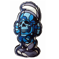 David Flores x HellFire Canyon Club: Deathead S'murks ダイカットクッション BlackBook Toy Exclusive