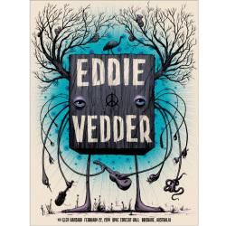 Jeff Soto(ジェフ・ソート) Eddie Vedder(エディ・ヴェダー) QPAC Brisbane 2014 シルクスクリーンポスター