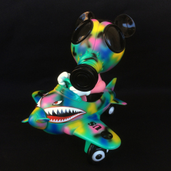 Ron English x BlackBook Toy( ロン・イングリッシュ) Mousemask Murphy in Airplane Psycho Camo edition