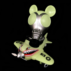 Ron English x BlackBook Toy( ロン・イングリッシュ) Mousemask Murphy in Airplane Night Raid edition