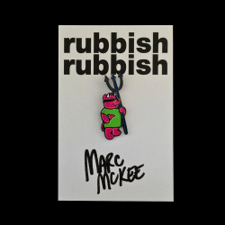 Marc McKee x Rubbish Rubbish(マーク・マッキー) Rocco Bear PU ピンズ