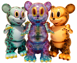 Ron English x BlackBook Toy:Leopard Mousezilla micro run painted by BBT