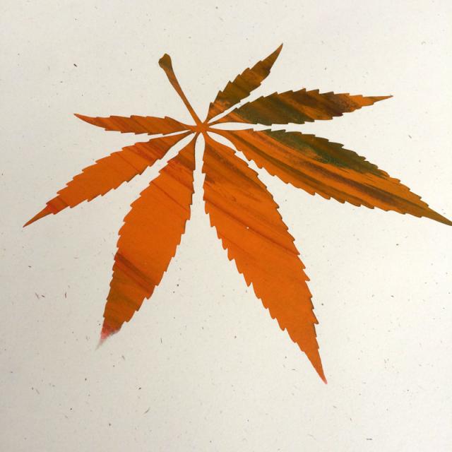 Luke Vicious(ルーク・ヴィシャス) Inverted Leaf シルクスクリーンポスター