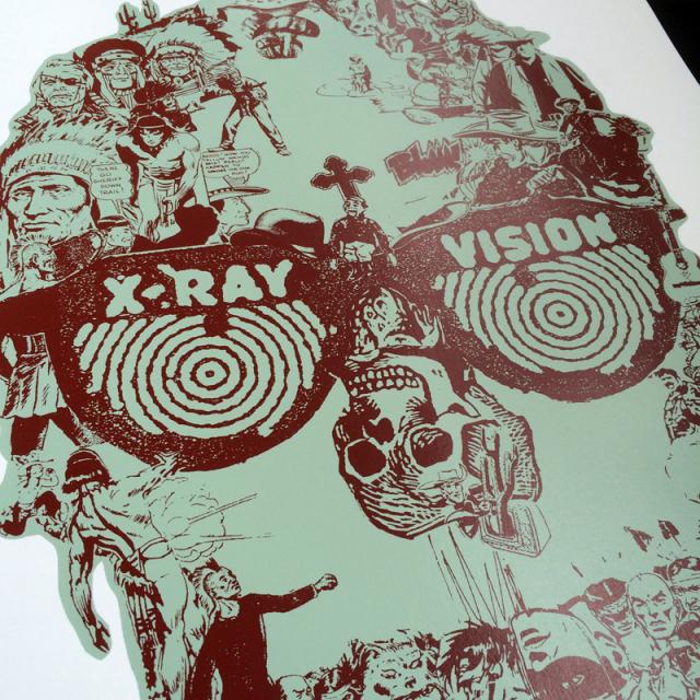 Perry Vasquez(ペリー・ヴァスケス) X-Ray Vision シルクスクリーンポスターBL
