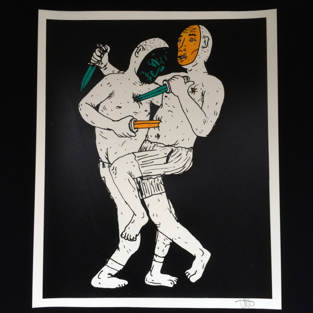 Taylor Johnson(テイラー・ジョンソン) Stabby シルクスクリーンポスター
