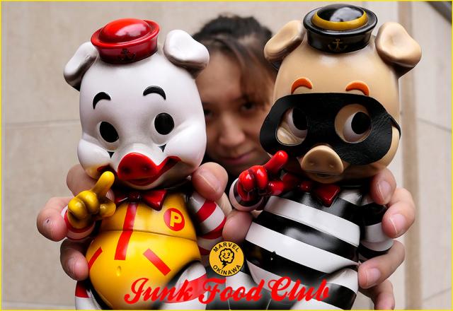 JUNK FOOD CLUB Piggums one offs by Marvel Okinawa