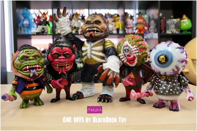 MISHKA mashup sofubi one offs by BBT