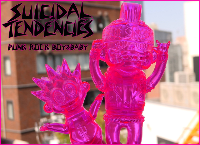 Suicidal Tendencies:PUNK ROCK BOY&BABY Clear Neon PK