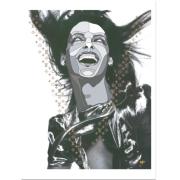 David Flores(デイビッド・フローレス) Linda(リンダ) シルクスクリーンポスター