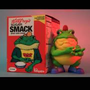 "Ron English( ロン・イングリッシュ) ""Drug 'Em Killfrog"" - The Sugar Smack Bullfrog 8インチフィギュア"