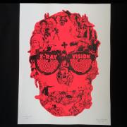 Perry Vasquez(ペリー・ヴァスケス) X-Ray Vision シルクスクリーンポスターRED