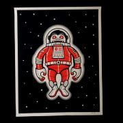 Nick McPherson(ニック・マクファーソン) Space Monkey シルクスクリーンポスター