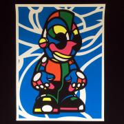 David Flores(デイビッド・フローレス) Kidrobot シルクスクリーンポスター