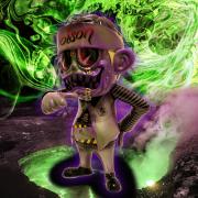 Suicidal Tendencies x BlackBook Toy(スイサイダル・テンデンシーズ) SKUM-kun Poison edition micro run by BBT