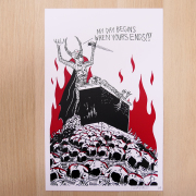 NECKFACE:MY DAY BEINGS WHEN YOURS ENDS!!! Screen Print