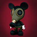 Ron English( ロン・イングリッシュ) Mousemask Murphy(マウスマスク・マーフィー) 10インチフィギュア BBT Exclusive Military Ver