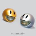 Ron English( ロン・イングリッシュ) Smiley Grin(スマイリー・グリン) Piggy Bank Platinum-Gold Grill 1個単位