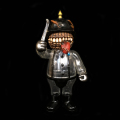 Frank Kozik x BlackBook Toy:A Clockwork Hateball MEATBALL painted by Kenth Toy Works