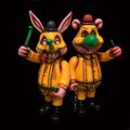 Frank Kozik x BlackBook Toy:A Clockwork Carrot No Nukes