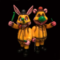 Frank Kozik x BlackBook Toy:A Clockwork Carrot No Nukes