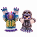 MISHKA x Lamour Supreme:Yeti KONG, Ghost Beast finger puppet micro run paninted by BBT