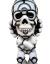 David Flores x HellFire Canyon Club x BlackBook Toy:Deathead S'murks Reverse Toy Art Gallery Exclusive