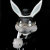 Frank Kozik x BlackBook Toy:A Clockwork Carrot Lil Alex 11インチフィギュア Grayscale Edition