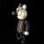 Frank Kozik x BlackBook Toy:A Clockwork Carrot Dim 11インチフィギュア Grayscale Edition