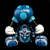 David Flores x HellFire Canyon Club x BlackBook Toy:Kiss My Ass DF Exclusive Blue Hue edition