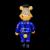Frank Kozik x BlackBook Toy:A Clockwork Carrot Dim 11インチフィギュア A.C.A.B Edition