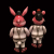 Frank Kozik x BlackBook Toy:A Clockwork Carrot Lil Alex Biohazard