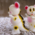 Ron English x BlackBook Toy( ロン・イングリッシュ) Mousezilla:Fortune Cat BL GID painted by BBT