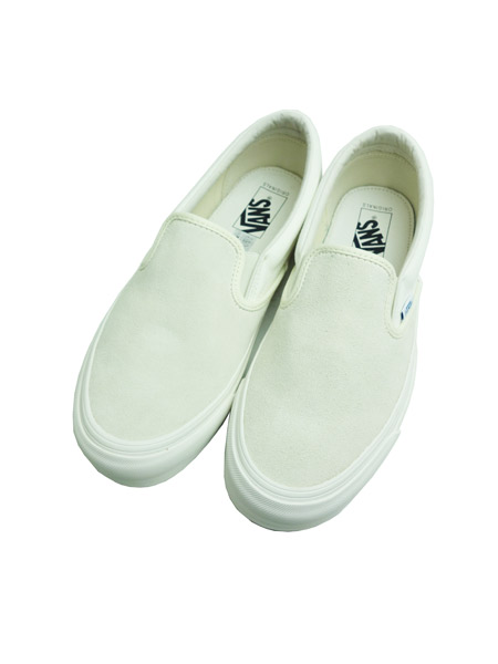 VANS VAULT OG CLASSIC SLIP-ON LX (SUEDE/CANVAS) EGRET/CLOUD DANCER