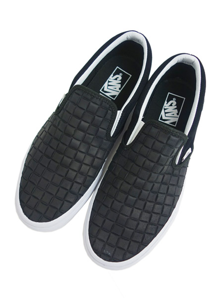 VANS Classic Slip-On (SUEDE CHECKERS) BLACK
