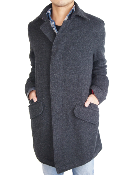 "Battalion GRUNGY WOOL COAT ""J"" BLACK"