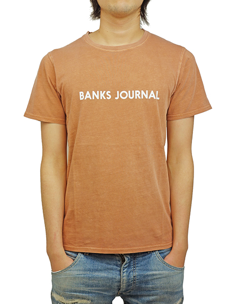 BANKS LABEL TEE SHIRT FADED PEACH
