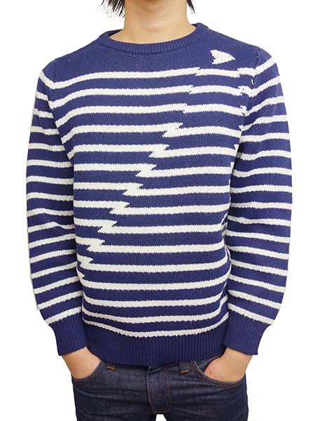 Birvin Uniform SHARK ATTACK BORDER KNIT NAVY