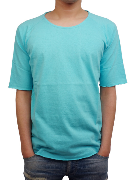LIFE IS.... RAGLAN HALF SLEEVE TEE AQUA BLUE