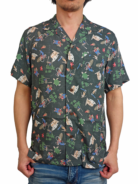 Birvin Uniform ALOHA SHIRT BLACK