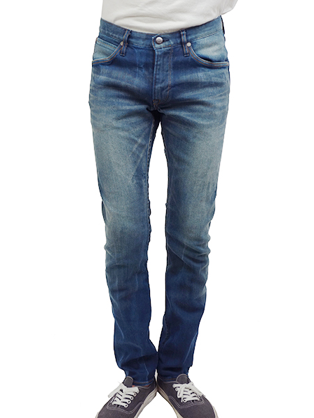 BLUEY TAPERED SLIM JEANS BLUE(AGING)