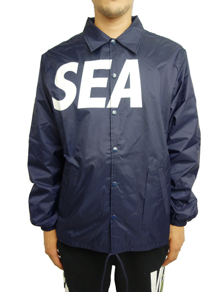 WIND AND SEA COACH JACKET A NAVY