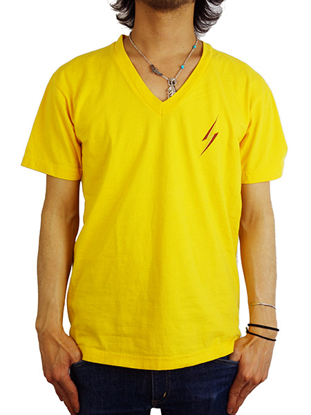 Lightning Bolt V-NECK TEE (3C稲妻) GOLD