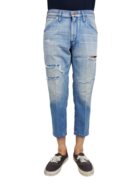 Wrangler Tapered Cropped Clash Denim Indigo Light