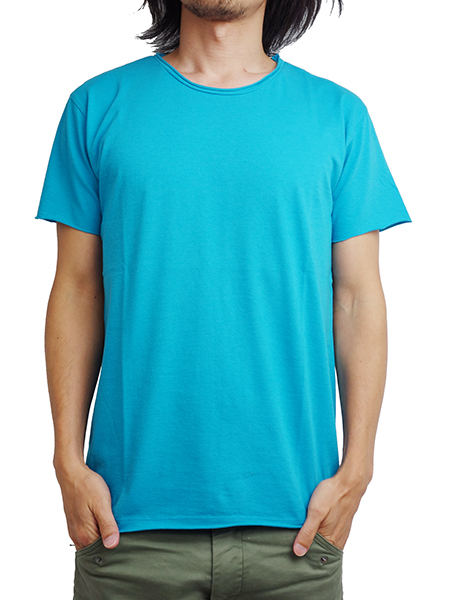 LIFE IS.... ROUGH NECK TEE TURQUOISE