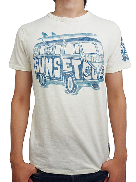 SUNSET SURF by JOHNSON MOTORS Inc. SURF BUS DIRTY WHITE